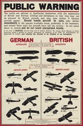 GERMAN AIRSHIPS, BRITISH AIRSH