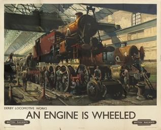 AN ENGINE IS WHEELED
