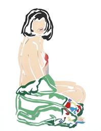 Monica Sitting, Robe Half Off
