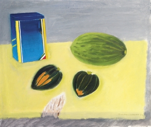 Still life, melon and squashes
