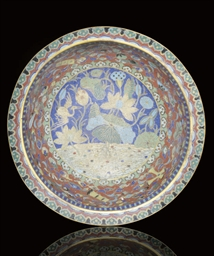 A LARGE CLOISONNE BOWL, 18TH C
