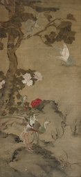 A LARGE PAINTING, 18TH CENTURY