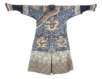 A BLUE SUMMER GAUZE COURT ROBE