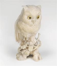 A Fine Ivory Okimono [Sculptur
