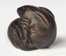 A Persimmon Wood Netsuke