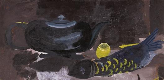 Natura morta con teiera, limon