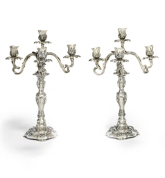 A PAIR OF PORTUGUESE SILVER FO