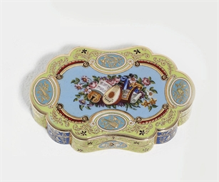 A SWISS ENAMELLED GOLD SNUFF-BOX FOR THE ORIENTAL MARKET