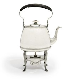 A GEORGE III SILVER KETTLE, ST