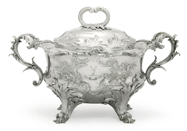 A WILLIAM IV SILVER-SOUP TUREE