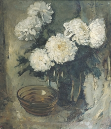 Still life of chrysanthemums a