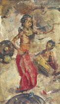 Dancer with drummer
