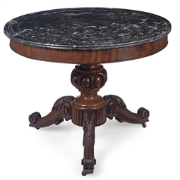 A NAPOLEON III MAHOGANY AND FO
