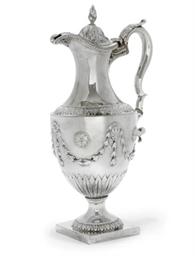 A GEORGE III BEAD-EDGED SILVER