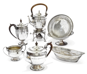 A MATCHED SILVER FOUR-PIECE TE