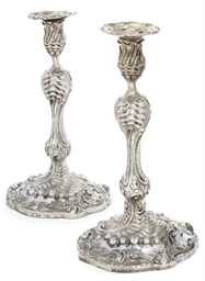A PAIR OF GEORGE III ROCOCO SI