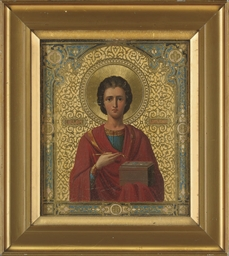 AN ICON OF ST. PANTALEON, SET