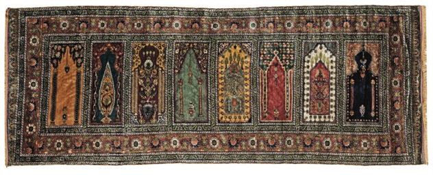 A fine silk multiprayer Turkis