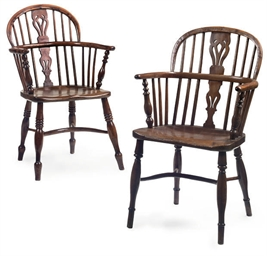 A MATCHED PAIR OF YEWWOOD WIND