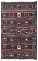 An antique Kuba kilim