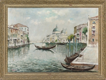Gondolier on the Grand Canal,