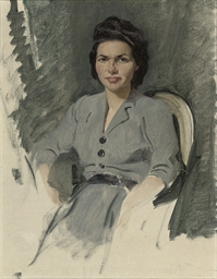 Study of Elizabeth, seated thr