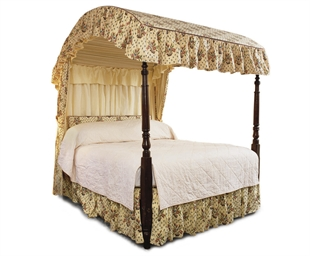 A GEORGE III OAK FOUR POSTER B