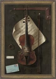 A tromp l'oeil with violin, a