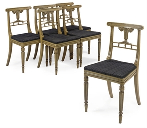 A SET OF SIX GEORGE IV DINING