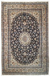 A fine part silk Nain carpet
