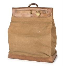 A RARE AND EARLY STEAMER BAG