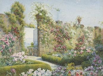 A blaze of flowers, Villa Capp