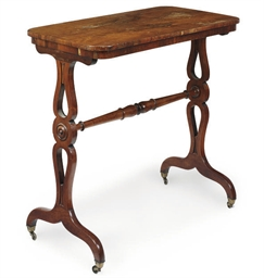 A WILLIAM IV ROSEWOOD TABLE