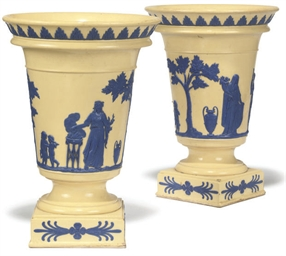 A PAIR OF WEDGWOOD CACHE-POTS