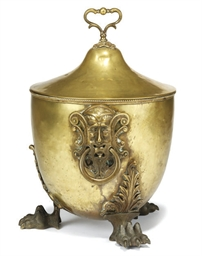 A VICTORIAN BRASS COAL BUCKET