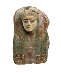 AN EGYPTIAN CARTONNAGE MUMMY M