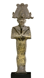 AN EGYPTIAN GILT BRONZE OSIRIS