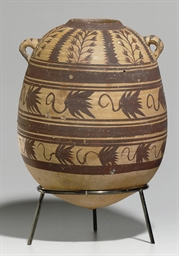 AN EGYPTIAN POTTERY AMPHORA