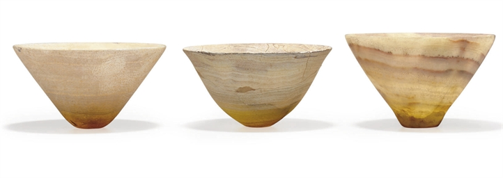 THREE BACTRIAN ALABASTER BOWLS