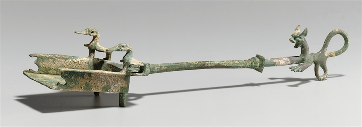 A PARTHIAN BRONZE INCENSE SHOV