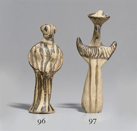 A MYCENAEAN TERRACOTTA PHI FIG