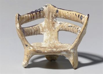 A MYCENAEAN TERRACOTTA THRONE