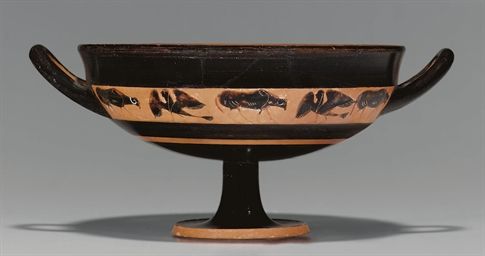 AN ATTIC BLACK-FIGURED BAND CU
