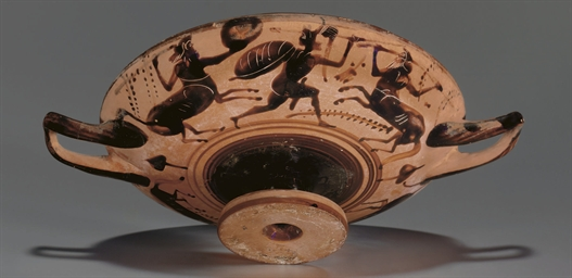 A BOEOTIAN BLACK-FIGURED KYLIX