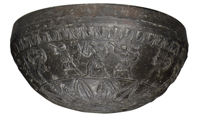 A MEGARIAN WARE POTTERY BOWL