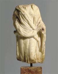 A ROMAN MARBLE DRAPED FEMALE