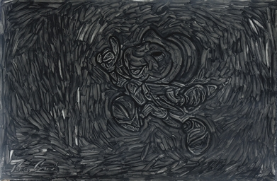Black Painting. Jiminy Cricket