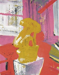 Caryatid Maquette in Studio