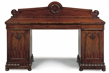 A WILLIAM IV MAHOGANY TWIN PED