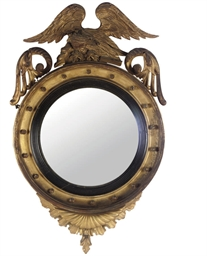 A PAIR OF REGENCY GILT CONVEX